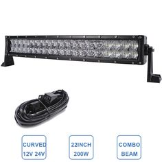 89.94$  Watch now - http://alibjl.worldwells.pw/go.php?t=32705644348 - 22'' 200W Curved LED Light Bar Off Road Tractor Boat 4WD 4x4 Truck SUV ATV UTE 12V 24V Vehicle Roof Windshield Driving Headlight 89.94$