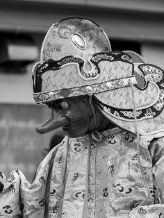"Tengu (天狗, ""heavenly dog"") a creatures from Japanese folklore. Kamakura, Kanagawa Pref., Japan. 2012. S)"