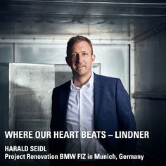 Do you know Harald Seidl? He has been with Lindner since 2001 and is now the Manager of our business unit Fit-Out in South and Southwest Germany. One of his most exciting projects is the renovation of the Research and Innovation Center (FIZ) of BMW in Munich: A total of eight buildings are to be renovated there! Harald and his team are working with Lean Construction Management. Innovation Centre, Bmw, Munich, In A Heartbeat, Did You Know, Beats, Buildings, Germany, Management