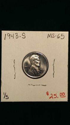 1943-S Lincoln Cent MS65