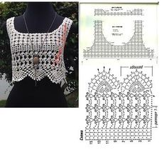 Hand Knitted Bustier Models for Summer – Knitting And We Crochet Summer Tops, Summer Knitting, Crochet Crop Top, Crochet Blouse, Tops Tejidos A Crochet, Débardeurs Au Crochet, Crochet Stitches, Free Crochet, Crochet Designs