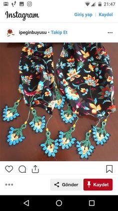 Crochet Jewelry Patterns, Macrame Patterns, Loom Patterns, Crochet Accessories, Crochet Designs, Crochet Lace Scarf, Love Crochet, Crochet Scarves, Knit Crochet
