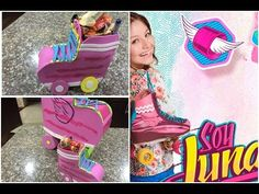 Organizador o dulcero en forma de patin soy luna, organizer or bag shaped birthday skates moon - YouTube
