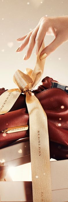 The Crush bag from Burberry - waiting to be unwrapped  . . . .#handbags . . . #purses