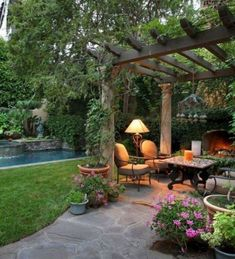 45 Cute Backyard Seating Area Ideas - Summer days and nights are great for enjoying the outdoors. The best way to enjoy the summer is by using your outdoor seating area in your garden. Outside Seating Area, Outdoor Seating Areas, Outdoor Rooms, Outdoor Living, Outdoor Decor, Backyard Seating, Backyard Patio Designs, Small Backyard Landscaping, Small Patio