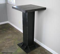 Modern Industrial Table for Bar/Lounge/Nightclub. por leecowen