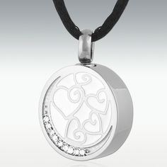 Collected Hearts Stainless Steel Cremation Jewelry - Engravable