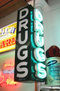 Vintage Neon pharmacy sign