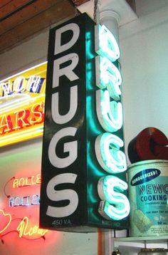 Vintage Neon pharmacy sign