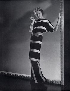 Robert Piguet 1935 Fashion Photography I love how the stripes change direction