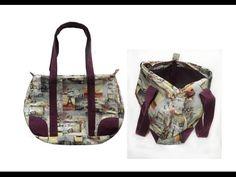 Bowling Bag Tasche / Tasche / Handtasche selber nähen - Nähen für Fortgeschrittene - YouTube