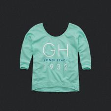 Graphic Scoop Neck Sweatshirt