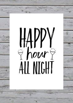 Printable Happy Hour All Night Wedding Reception by SauceOnTheSide