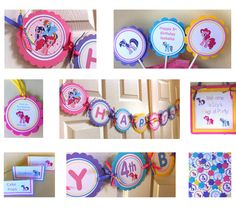 My Little Pony party package by BerrySweetParties on Etsy, $60.00