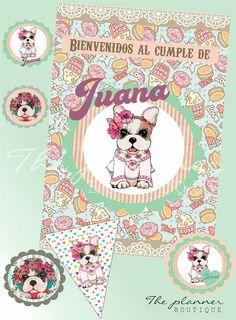 @theplannerboutique #puppies #simones #tarjetas #invitaciones #banderines #toppers #cumples #vintage #love #design