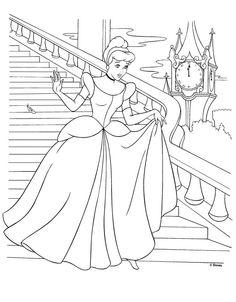 princess cinderella coloring sheet for the kiddos at the reception.