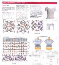 gráfico da blusa branca com aplicações #2
