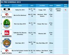 Расписание чемпионатов по классическуму серфингу