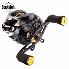 Sale 15% (30.19$) - SeaKnight LYCAN 1200HG 7.0:1 Baitcasting Fishing Reel 11 1BB 5KG Carbon Fiber Drag System 205g Wheel