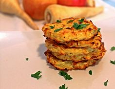 Baked Parsnip and Apple Latkes