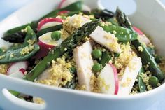 Smoked chicken and summer vegetable couscous salad – Recipes – Bite