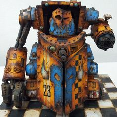 Rusty Ork Gargantant. I think this is the smallest one that is plastic, haven't played 40K is a long time.