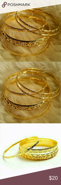Gold Layered Bracelets Gold Layered Bracelets. Color: Gold. **Free Shipping: Submit offer for $6 less and I will accept.** Jewelry Bracelets