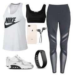 """""""Sporty chic"""" by written-in-stone on Polyvore featuring Alo, NIKE, T By Alexander Wang and Fitbit"""
