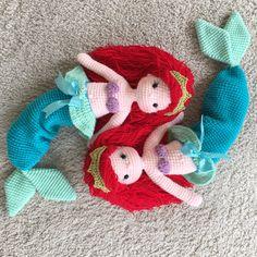 Ariel crochet amigurumi mermaid By nathaliesweetstitches