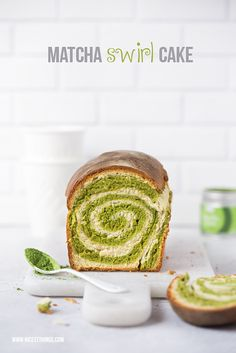 Matcha Swirl Bread / Matcha Brot mit Wirbel