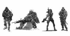 soldiers, Leo Lee on ArtStation at https://www.artstation.com/artwork/mmdr8