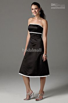Wholesale Homecoming Dress - Buy Classic 2-tones Satin Tea-length A-line Evening Homecoming Dress 201019, $37.7 | DHgate