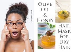 OLIVE OIL WITH HONEY HAIR MASK FOR DRY HAIR