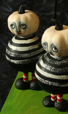 OOAK Primitive Hand Made The Tweedle Gourds Holiday Decor Halloween. $56.00, via Etsy.