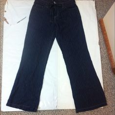 Pure Color pants with belt (navy blue) Great condition. Inseam is 36. Pure Color Pants Boot Cut & Flare