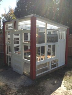 New greenhouse, from old windows complete