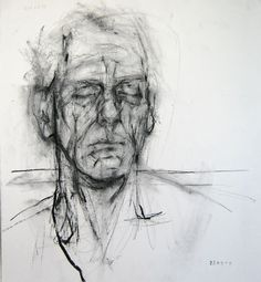 Untitled, 2009. Charcoal on paper. 57.5 x 49.5 cm