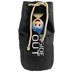 Karset Inside Out Joy Vertical Bucket Cylindrical Shaped Canvas Beam Port Drawstring Sports Basketball Shoulders Backpack Bags *** Click image for more details.