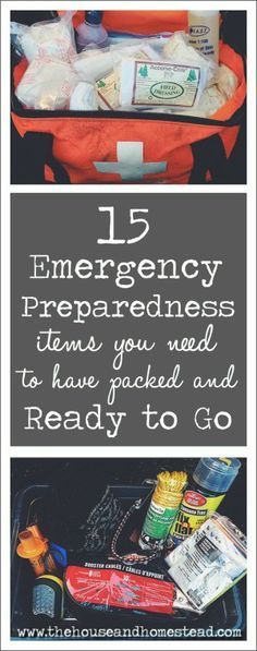 15 Emergency Preparedness Items You Need to Have Packed and Ready To Go Disaster can strike anyone anywhere at anytime. Be ready to bug out with this list of 15 emergency preparedness items you need to have packed & ready to go. Emergency Preparedness Items, Emergency Preparation, Disaster Preparedness, Survival Prepping, Survival Gear, Survival Skills, Wilderness Survival, Survival Quotes, Hurricane Preparedness