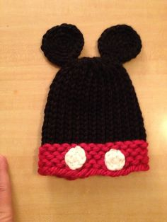 Mickey loom knit hat