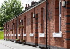Dee Cottages, Flint  To refurbish and upgrade 42 post-WW1 brick- built terraced cottages to provide sustainable management and performance in line with current building regulations, whilst preserving their distinctive architectural character.