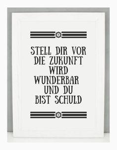 'STELL DIR VOR' Kunstdruck / Einsaushundert von Einsaushundert auf DaWanda.com