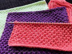 Peal Brioche stich. Knitted Dishcloth pattern #12 from KnittingUnlimited.blogspot.com