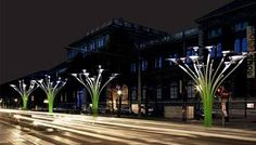 Árvores solares de Viena mesclam arte e tecnologia