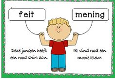 Lessen van Lisa - Taal Poster over feit en mening. Speech Language Therapy, Speech And Language, Learn Dutch, Dutch Language, Job Info, Fact And Opinion, School Posters, Language Lessons, School Projects