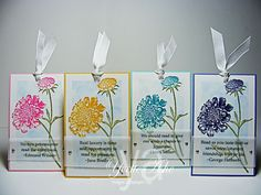 Field-Flowers-Bookmarks - reading quotes printed on vellum and attached w mini brads Diy Crafts Love, Crafts To Do, Book Markers, Card Tags, Gift Tags, Candy Cards, Craft Show Ideas, Scrapbook Cards, Scrapbooking