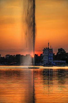 SERBIA,Belgrade,Sava Lake Well now there is a beer bottle for the fountain!!
