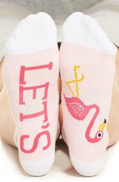Let's flamingos socks