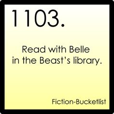fiction bucket list - read with belle in the beast's library