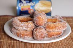 Easy Sugared doughnuts using Pillsbury biscuit dough | Kirbie's Cravings | A San Diego food blog
